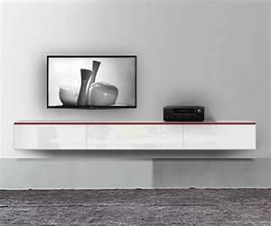 Tv Schrank Weiß Hochglanz Hängend : h ngende lowboards 120 300 cm breite in 30 farben ~ Sanjose-hotels-ca.com Haus und Dekorationen