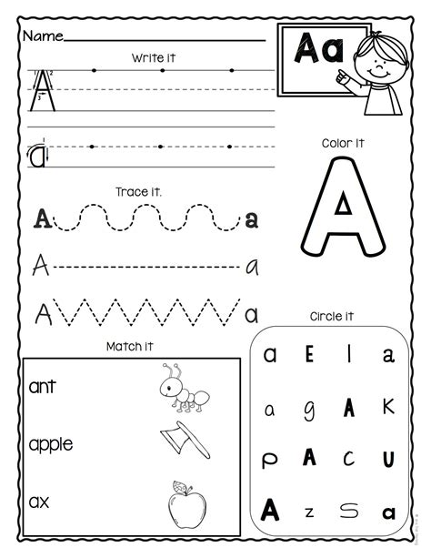 letter worksheets set   images alphabet