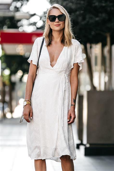 feminine white wrap dress fashion jackson