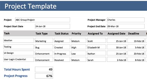 Trial Tracking Excel Template free excel templates download orangescrum project