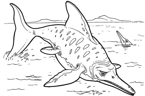 Ichthyosaur Dinosaurs Coloring Page