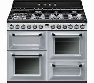 Smeg Online Shop : buy smeg victoria tr4110s1 110 cm dual fuel range cooker silver stainless steel free ~ Heinz-duthel.com Haus und Dekorationen