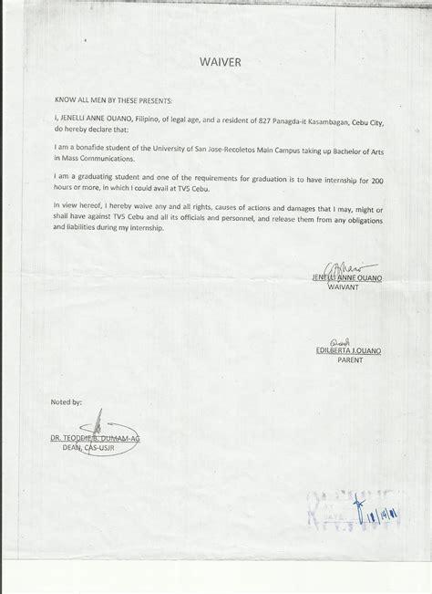 endorsement letter waiver application letter  resume