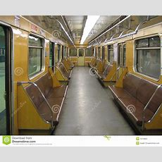 Moscow Interior Of A Classic Subway Car Stock Images