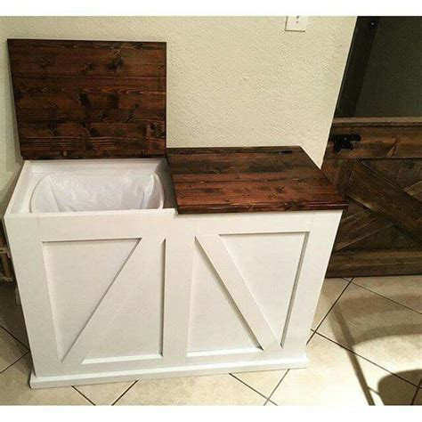 rustic kitchen trash cans ideas  pinterest farmhouse kitchen trash cans country kitchen  rustic kitchen decor