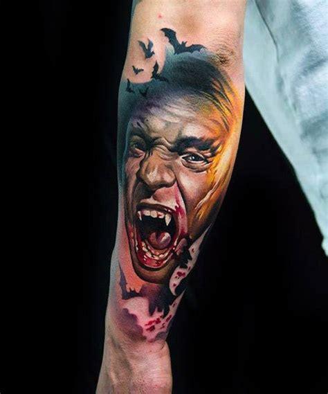 dracula tattoo designs  men blood sucking vampire ideas