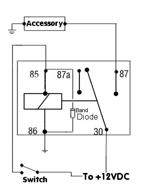 Positive Switched Relay Schematic Diagram Automotive