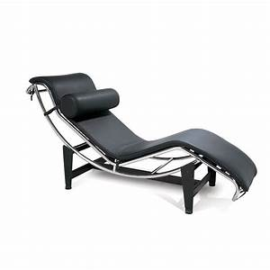Le Corbusier Stil : le corbusier style chaise black leather chaise lounge ~ Michelbontemps.com Haus und Dekorationen
