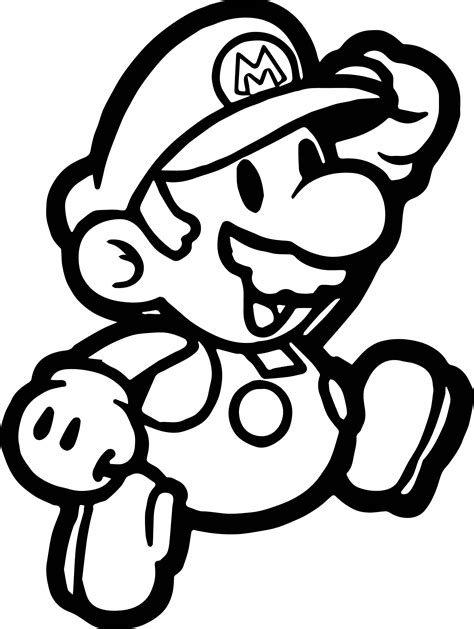 coloring paper paper mario coloring page wecoloringpage