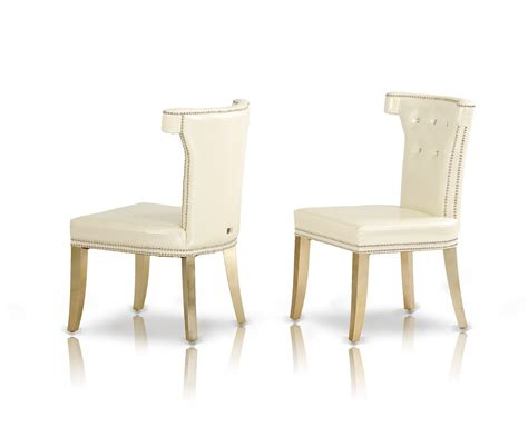 a x beatrice white leather dining chair