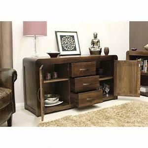 shiro sideboard large living dining room solid walnut dark With living room furniture walnut wood