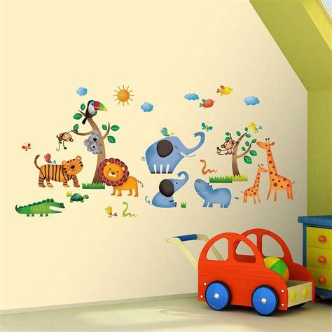 Wandtattoo Kinderzimmer Safari by Wandsticker Dschungeltiere Safari Wandsticker Kinderzimmer