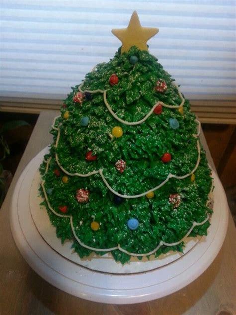 3d christmas tree cake cakes pinterest