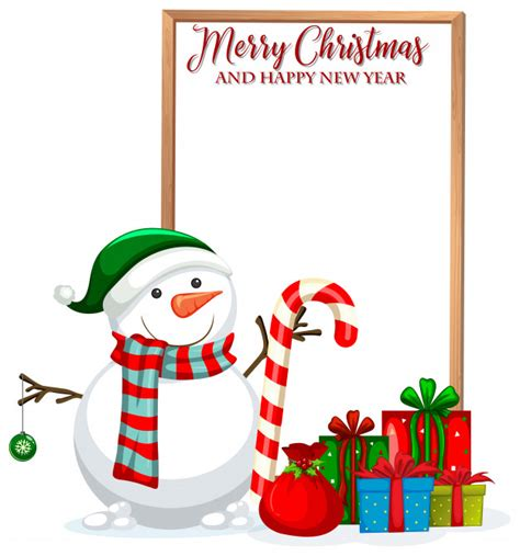 Free merry christmas vector download in ai, svg, eps and cdr. Merry christmas and happy new year frame Vector | Free ...
