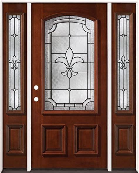 solid wood interior doors home depot cheap fleur de lis 3 4 arch mahogany prehung wood door