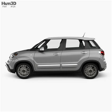 Fiat 500l Models by Fiat 500l Cross 2017 3d Model Hum3d