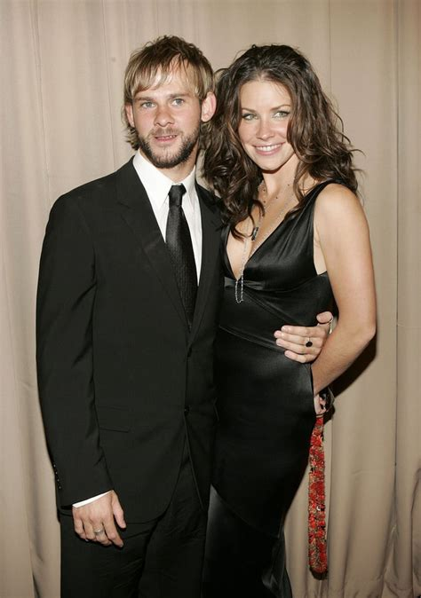 dominic monaghan  evangeline lilly tv costars  dated  real life popsugar celebrity