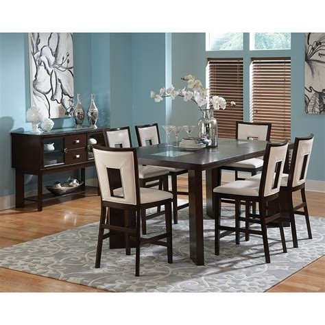 silver dining table set steve silver delano 7 piece counter height dining set