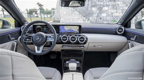 He's especially impressed by the luxurious materials and. 2019 Mercedes-Benz A-Class A180 d Progressive (Color: Mountain Grey) - Interior, Cockpit ...