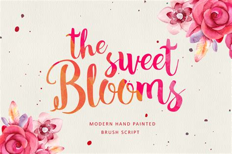 The Sweet Blooms (25% Off)  Fonts On Creative Market. Football Visor Stickers. Corp Logo. Sunsinger Logo. Disney World Logo. Timeline Murals. Different Stickers. Amniotic Fluid Signs. Early Warning Signs Of Stroke