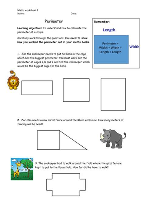 perimeter y3 4 by b4005451 teaching resources tes