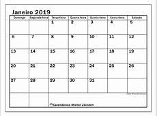Calendario Michel Zbinden.Calendario 2019 Para Imprimir Michel Calendarios Hd