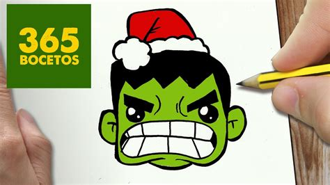 como dibujar  hulk  navidad paso  paso dibujos