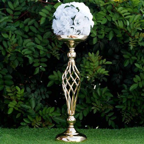 wedding decoration flower vase metal wedding flower decor candle holder vase centerpiece 2 stands ebay