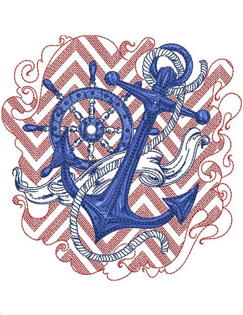 designs of chevron nautical machine embroidery designs by sew swell
