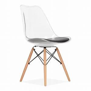 Chaise Transparente Pied Bois : relative chaise dsw transparente zv93 humatraffin ~ Teatrodelosmanantiales.com Idées de Décoration