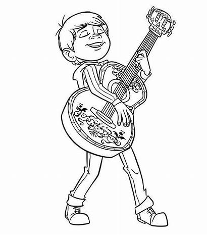 Coco Coloring Pages Miguel Sheets Disney Sheet