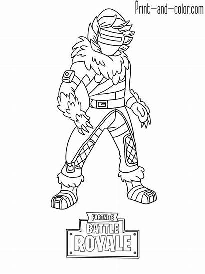 Fortnite Coloring Pages Printable Royale Battle Colouring