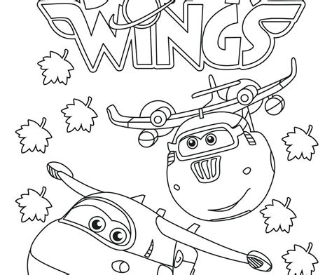 Super Wings Coloring Pages Printable