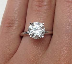 Tiffany s 3 carat diamond ring wedding promise diamond for Wedding rings to go with solitaire engagement ring