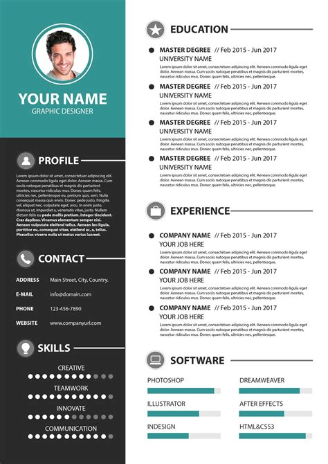 Confused about proper cv format? Modern Simple Resume Template PSD | | PSD Free Download