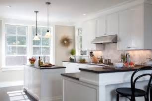 white l shaped kitchen with island bentwood bar stools contemporary kitchen kate jackson design