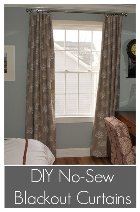 diy no sew blackout curtains front shack