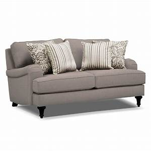Candice sofa and loveseat set gray value city furniture for Kroehler furniture slipcovers