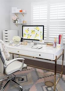 Park, Avenue, Writing, Desk, In, White, And, Gold, Overstock, Fancy, Things, Office