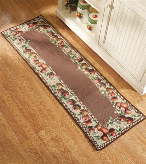 kitchen carpet runner apple decor runner kitchen rug country decor apple blossom
