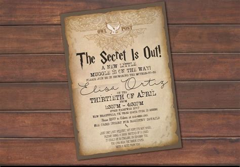 Harry Potter Baby Shower Invitations - 17 best ideas about harry potter invitations on