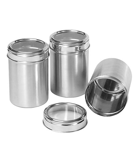 guh stainless steel kitchen storage dynore stainless steel kitchen storage canisters dabba