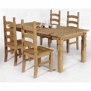 Chaise En Pin : lot de 2 chaises en pin massif cir es ~ Teatrodelosmanantiales.com Idées de Décoration