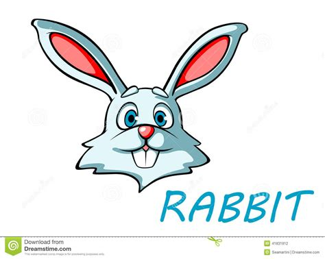 funny cartoon rabbit  hare stock vector illustration