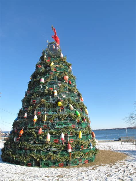 maine xmas lobster wood versus metal maine s lobster trap trees maine travel maven