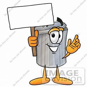 Cartoon Trash Can