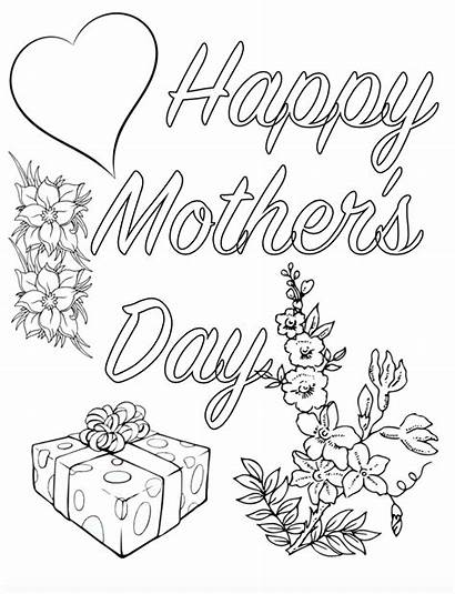 Coloring Pages Mothers Mother Printable Sheets Cards