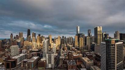 Chicago Animated Cityscape Cinemagraph Wacker Drive Willis