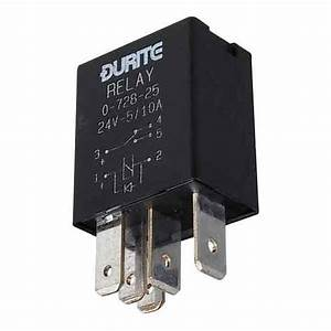 Durite 24 Volt 5    10 Amp Micro Change Over Relay 5 Pin 0