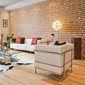 Decoration Mur Interieur Salon : d coration salon mur de brique ~ Dailycaller-alerts.com Idées de Décoration